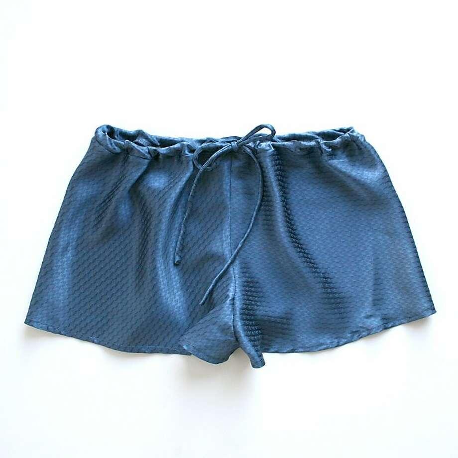 Veda Garconne tap shorts ($115) by Honey Cooler Handmade. Photo: Honey Cooler Handmade