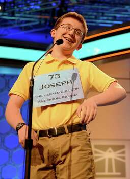 Joseph Kirkpatrick of Anderson, Indiana, reacts after he misspelled a word in the semifinals of the 2013 Scripps National Spelling Bee in National Harbor, Maryland, Thursday, May 30, 2013. Photo: Chuck Myers, McClatchy-Tribune News Service / MCT