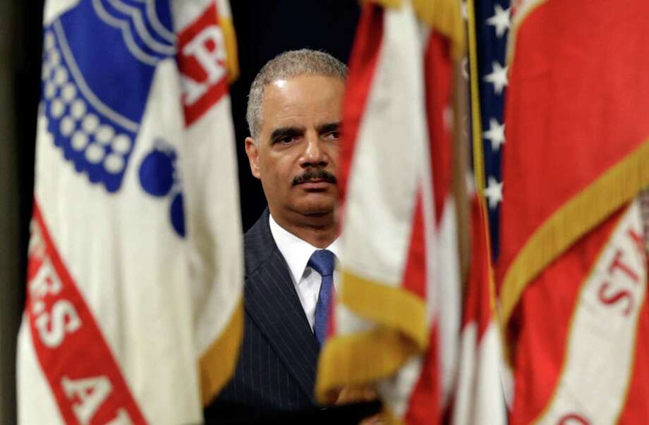 WASHINGTON, DC - MAY 28:  U.S. Attorney General Eric Holder attends a naturalization ceremony at the U.S. Department of Justice May 28, 2013 in Washington, DC. During the event Citizenship and Immigration Services Director Alejandro Mayorkas administered the Oath of Citizenship to approximately 70 new U.S. citizens.  (Photo by Win McNamee/Getty Images)  *** BESTPIX *** Photo: Win McNamee, Staff / 2013 Getty Images