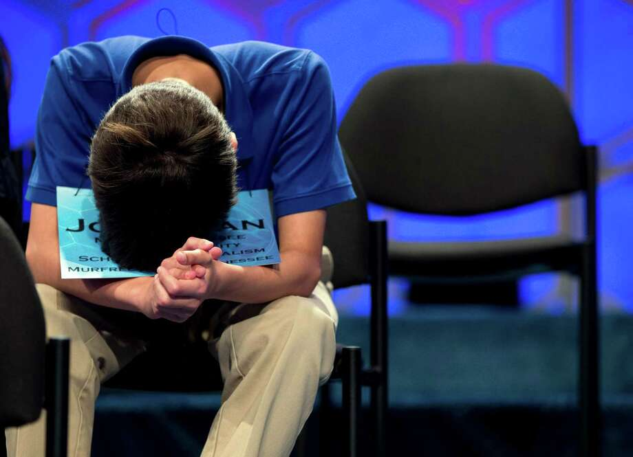 Jonathan Caldwell, 13, of Hendersonville, Tenn., waits for his turn during the semifinal round of the National Spelling Bee on Thursday, May 30, 2013, in Oxon Hill, Md. Photo: Evan Vucci, Associated Press / AP