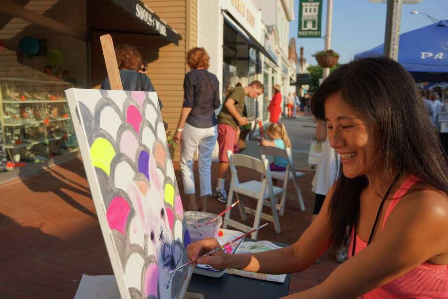 Were you SEEN at the Art About Town street festival? Main Street Westport 5/30/2013 Photo: Todd Tracy/ Hearst Connecticut Media Group