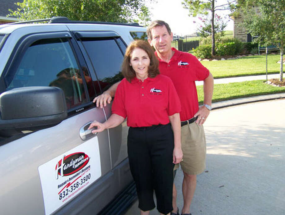 "Trenna and John Briley own three Houston-area franchises of Handyman Matters. ""When the economy is good, when people are building homes, we get busier,"" John Briley said Photo: Handyman Matters Handout"