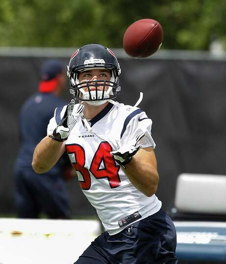 Rookie Ryan Griffin, trying to become the NFL's second active player from New Hampshire, knows Houston will not be much like home, but he hopes to stick around as the Texans' No. 3 tight end. Photo: Bob Levey, Photographer / ©2013 Bob Levey