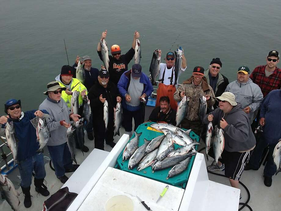 Last week was a good time for fishermen to catch their limit of salmon aboard the Huli Cat out of Pillar Point Harbor. Photo: Tom Mattusch, Courtesy Photo