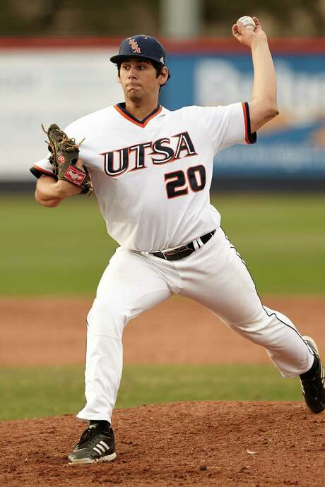 UTSA freshman Nolan Trabanino is 4-3 with a 4.57 ERA. Coach Jason Marshall tabbed the Friendswood native to start against Oregon State in Friday's second game of the Corvallis Regional to help lighten the workload of ace Brock Hartson. Photo: Jeff Huehn / UTSA Athletics