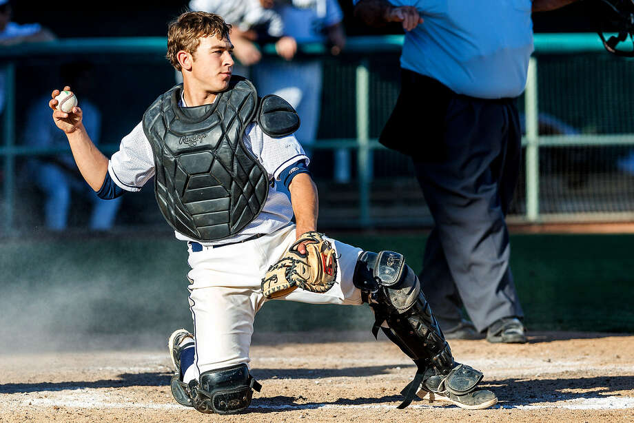 O'Connor catcher Gavin Johnson. Photo: Marvin Pfeiffer / San Antonio Express-News