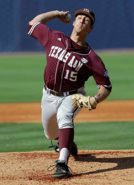 Daniel Mengden, owner of a 1.84 ERA, earned the call to start Texas A&M's opener. Photo: Dave Martin, STF / AP