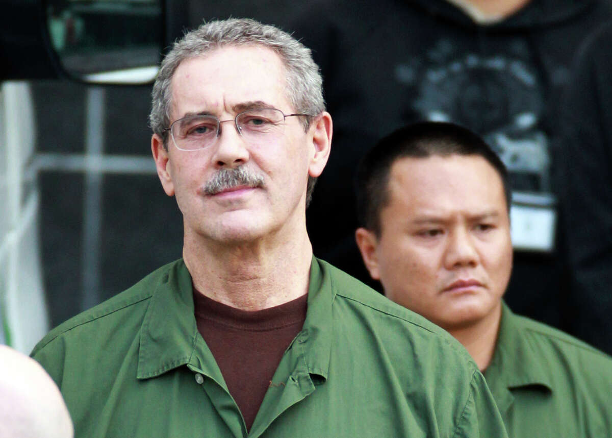 FILE - In this March 6, 2012 file photo, R. Allen Stanford leaves the Bob Casey Federal Courthouse in Houston. Stanford, once considered one of the wealthiest people in the U.S., with a financial empire that spanned the Americas, was convicted on charges he bilked investors out of more than $7 billion. The 62-year-old is set to be sentenced by a Houston federal judge on Thursday, June 14, 2012. (Houston Chronicle, Nick de la Torre, File)