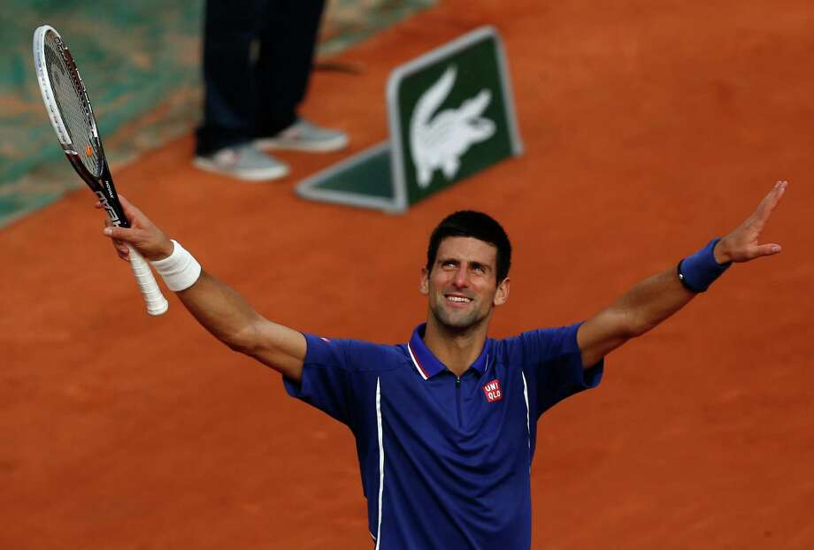 Serbia's Novak Djokovic advanced in the only Grand Slam tournament in which he has never won the title. Photo: Petr David Josek, STF / AP