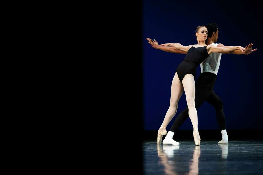 Lesley Rausch and Karel Cruz practice during the final dress rehearsal for the Pacific Northwest Ballet's performance of Director's Choice Thursday, May 30, 2013, at McCaw Hall in Seattle. Director's Choice runs for seven performances only from May 31 through June 9 at the Seattle Center's Marion Oliver McCaw Hall. Photo: JORDAN STEAD, SEATTLEPI.COM / SEATTLEPI.COM