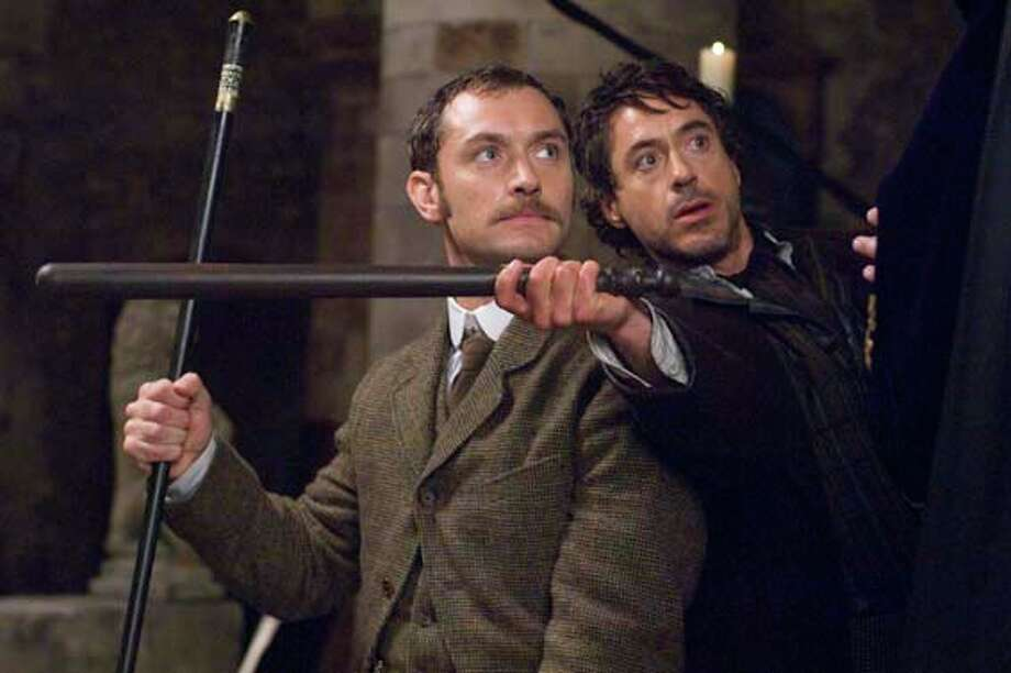 Round 7: SHERLOCK HOLMES (Dec. 25, 2009):  Badly directed by Ritchie, and yet the story is kind of interesting, and so is the original take on Holmes and Watson.  Uh-oh.  Is Ritchie slipping? Photo: Alex Bailey, Outnow.com