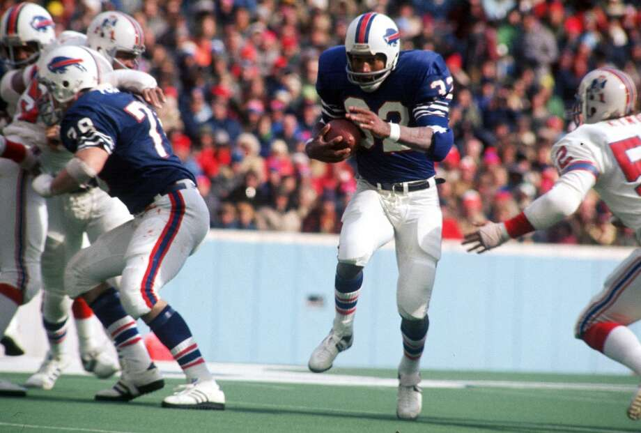 O.J. SimpsonProfessional career: NFL running back (1969 - 1979) Bufallo Bills and San Francisco 49ersNotable appearances in acting career: The Naked Gun: From the Files of Police Squad! (1988), The Naked Gun 2½: The Smell of Fear (1991) and  Naked Gun 33 1/3: The Final Insult  (1994) Photo: Focus On Sport, Getty Images
