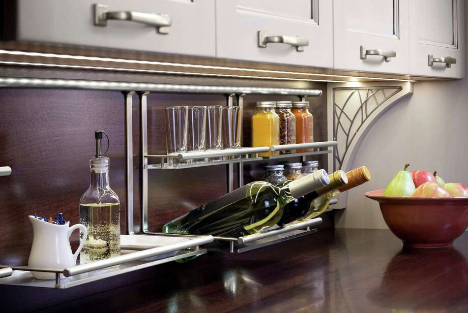 The Backsplash Railing System has a design that's ideal for contemporary kitchens. Photo: McClatchy-Tribune News Service