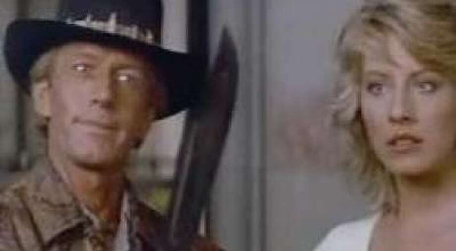 'Crocodile Dundee'- When a New York reporter (Linda Kozlowski) plucks crocodile hunter Dundee (Paul Hogan) from the Australian Outback for a visit to the Big Apple, it's a clash of cultures and a recipe for good-natured comedy as naïve Dundee negotiates the concrete jungle. Available Sept. 1 Photo: Paramount Pictures 1986