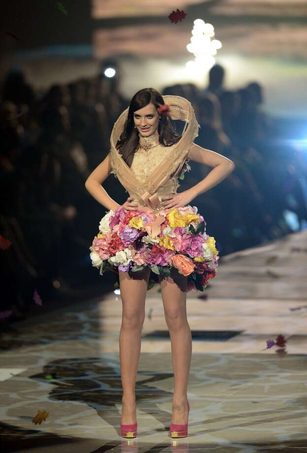 MANNHEIM, GERMANY - MAY 30:  Luise Will (m) during the final of 'Germany's Next Top Model by Heidi Klum ' TV show at SAP Arena on May 30, 2013 in Mannheim, Germany.  (Photo by Thomas Lohnes/Getty Images)