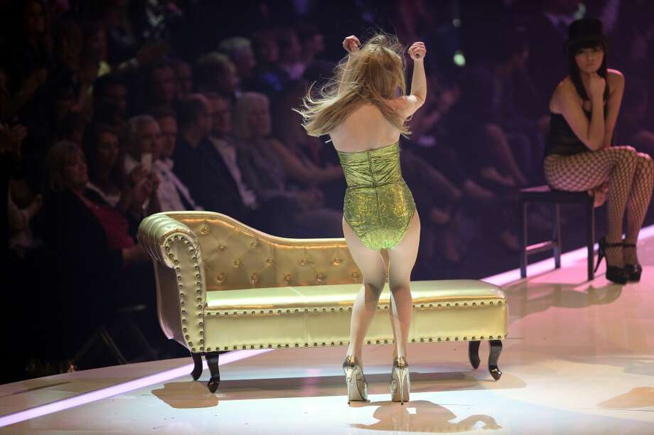 MANNHEIM, GERMANY - MAY 30:  Maike van Grieken performs during the final of 'Germany's Next Top Model by Heidi Klum ' TV show at SAP Arena on May 30, 2013 in Mannheim, Germany. Lovelyn Enebechi wins the top model crown.  (Photo by Thomas Lohnes/Getty Images)