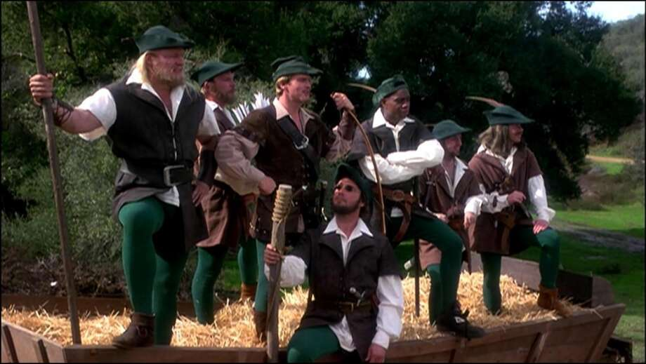 Robin Hood: Men in Tights (1993):It's the classic tale of Robin Hood ... reenvisioned by comic master Mel Brooks. As evil Prince John (Richard Lewis) oppresses the people, Robin (Cary Elwes) steals from the tax collectors, triumphs in an archery contest, foils (literally!) the Sheriff of Nottingham (Roger Rees) and makes goo-goo eyes at Maid Marian (Amy Yasbeck). The titular musical number, involving song, dance -- and, yes, men in tights -- is an undisputed highlight.Cary Elwes, Richard Lewis, Roger Rees, Amy Yasbeck, Mark Blankfield, Dave Chappelle, Isaac HayesAvailable: March 1