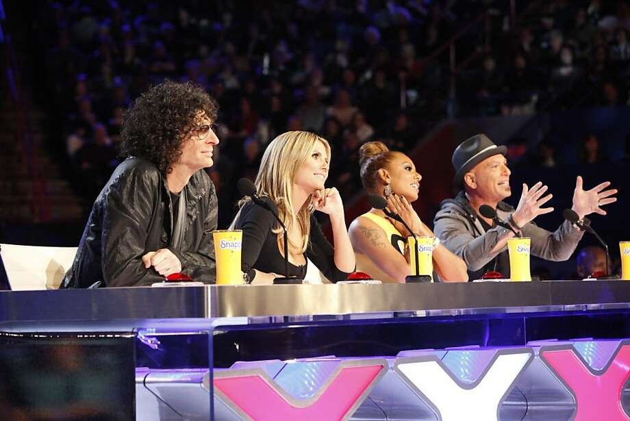 "Simon Cowell's ""America's Got Talent"" opens its eighth season Tuesday with judges Howard Stern (left) , Heidi Klum, Mel B and Howie Mandel. Photo: Skip Bolen, Associated Press"