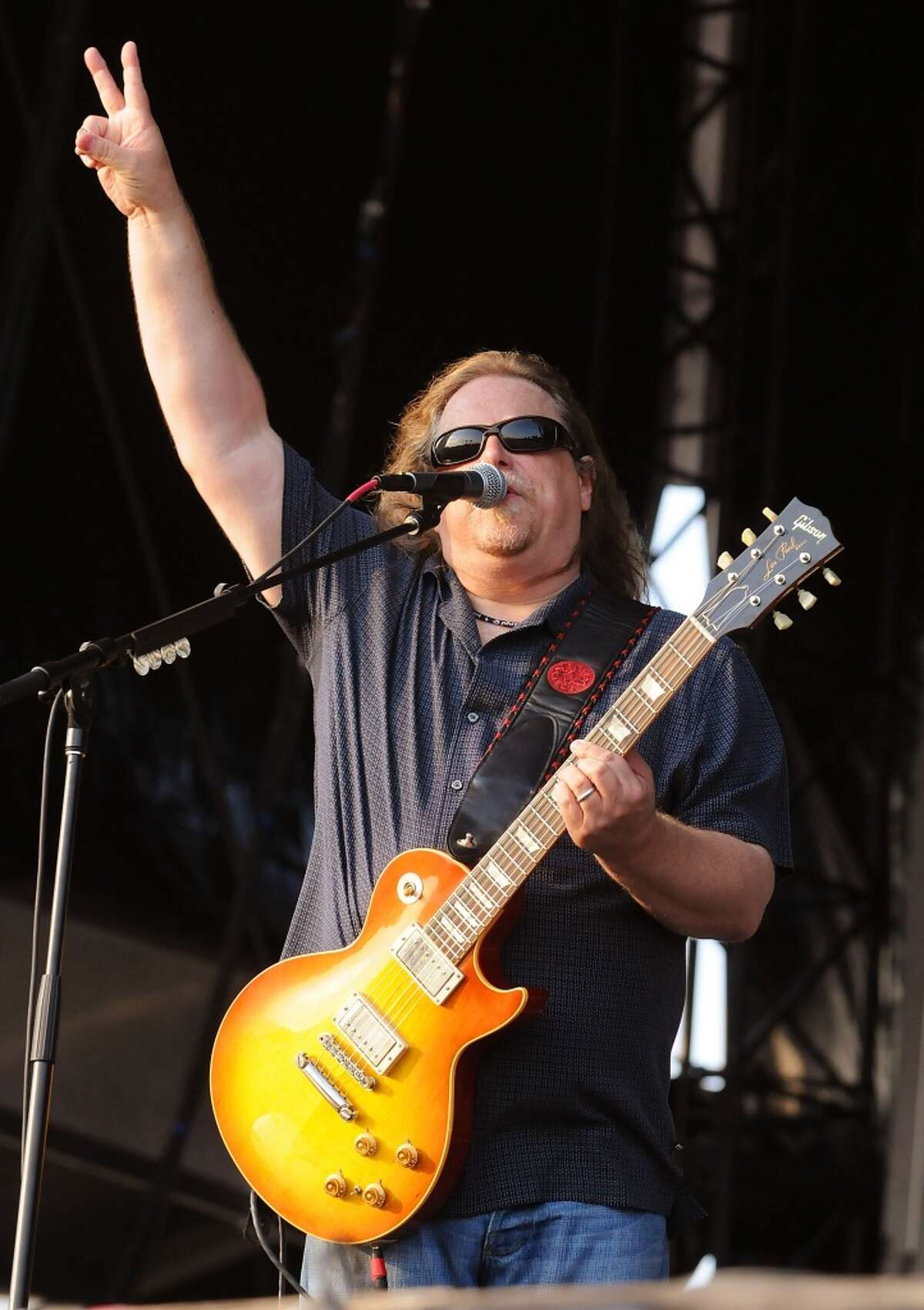 Warren Haynes of Gov't Mule performs on the Odeum Stage during the Rothbury (Mich.) Music Festival on July 6, 2008. The band stops at Ives Concert Park in Danbury on Sunday, June 2.