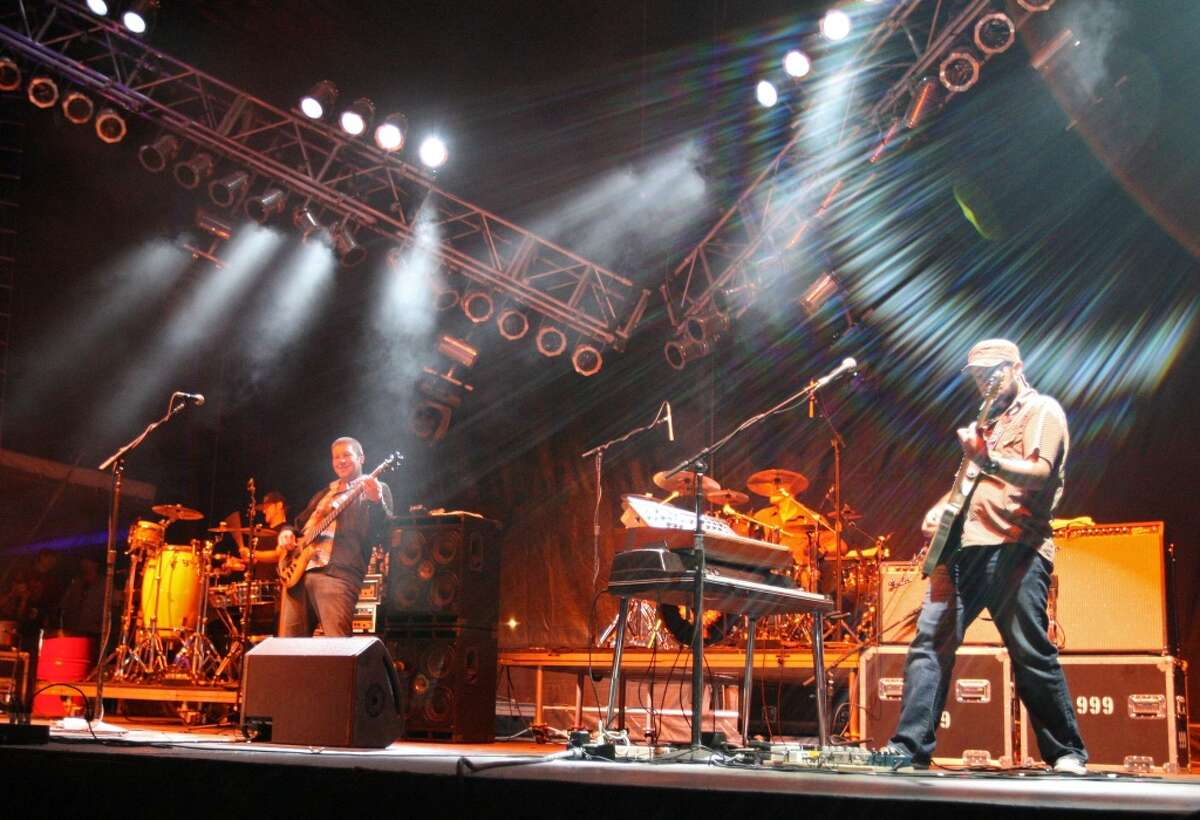 The band moe. performs during the Vegoose Music Festival at Sam Boyd Stadium in Las Vegas on Oct. 28, 2007. The band stops at Ives Concert Park in Danbury on Saturday, June 1.