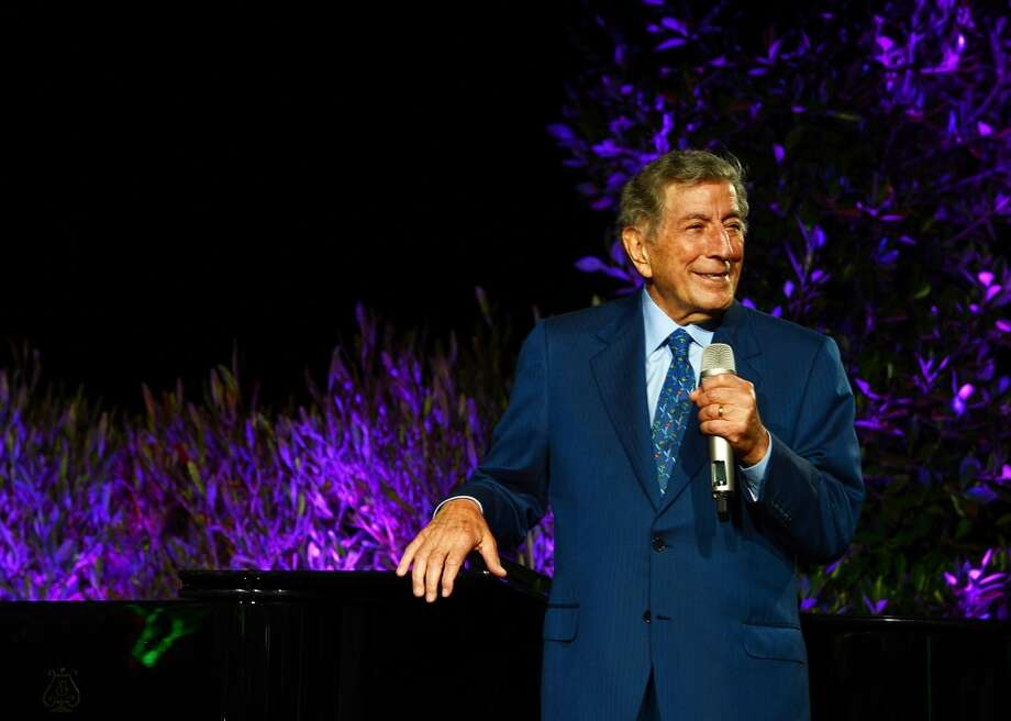 "Tony Bennett performs during the ""Exploring The Arts"" benefit in Palisades, Calif. on April 26, 2013. Bennett stops at Ives Concert Park in Danbury on Saturday, July 13."