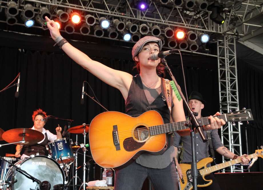 Brandi Carlile performs onstage during Bonnaroo in Manchester, Tenn. on June 12, 2010. Carlile stops at the Ives Concert Park in Danbury on Saturday, July 20.