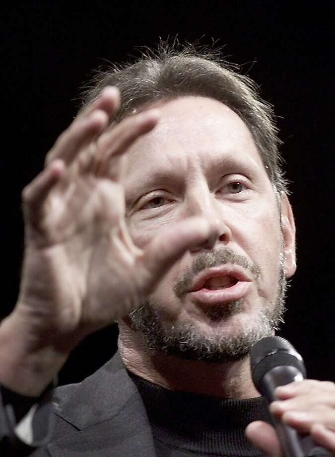Larry Ellison enjoyed a close friendship with Apple co-founder Steve Jobs. Photo: Frederic Larson