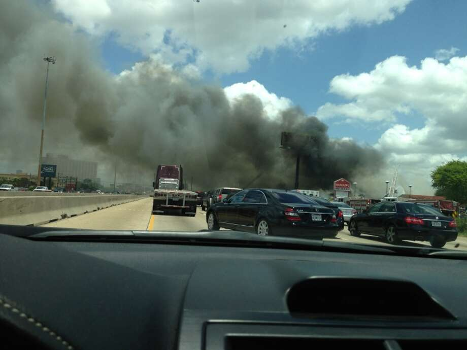 Traffic is backed up. Photo: Houston Chronicle