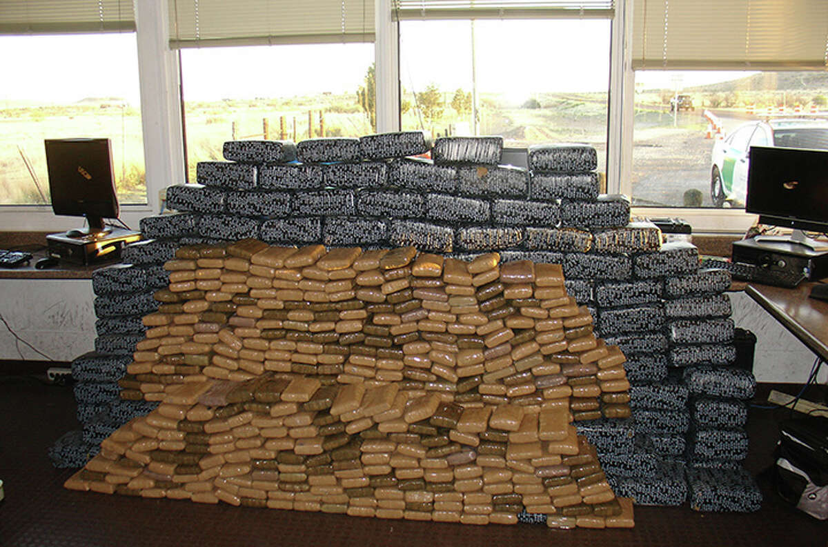 Item: 1,100 pounds of marijuana  Location: Marfa, Texas Seized by: U.S. Border Patrol Date: May 30, 2013 Details: Street value of $959,040.