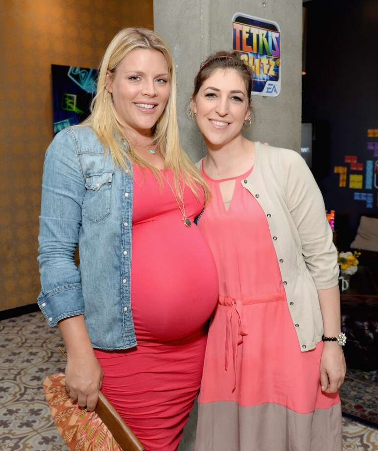 Actors Busy Philipps and Mayim Bialik attend the Variety Emmy Studio at Palihouse on May 29, 2013 in West Hollywood, California.