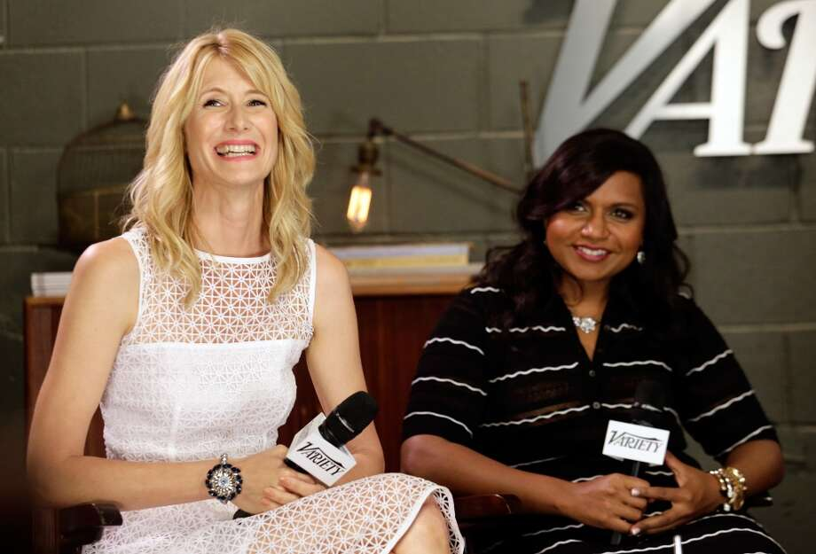 Actresses Laura Dern ('Enlightened') (left) and Mindy Kaling ('The Mindy Project'), both nominated for Best Comedy Actress award.