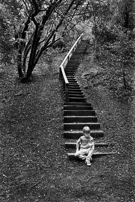 """Elihu Blotnick uses quotes from his photos' subjects as captions: """"Stairs - 'I hate worms. They make all this mud.' """" Photo: ©Elihu Blotnick, Courtesy Of The Author"""