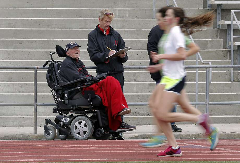 Jim Tracy, who led University to 34 NCS cross-country titles, was diagnosed with ALS in 2010. Photo: Michael Macor, The Chronicle