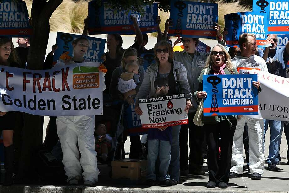 Fracking opponents want Gov. Jerry Brown to ban the controversial practice in California. Photo: Liz Hafalia, The Chronicle