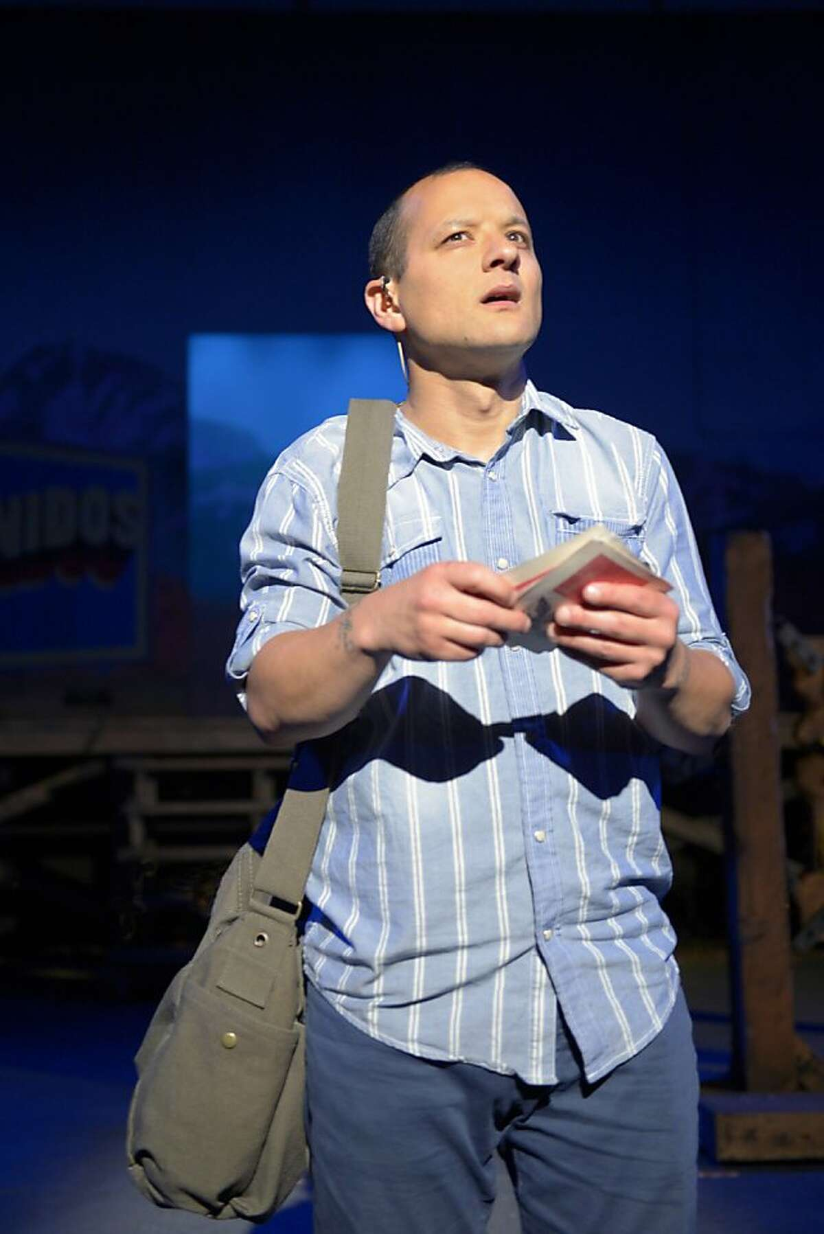 """Sean San Jose plays the title role of the immigrant on the verge of citizenship in Richard Montoya's """"American Night: The Ballad of Juan Jose"""" at California Shakespeare Theater. NOTE: Jose takes accent / over the e (in both instances)"""