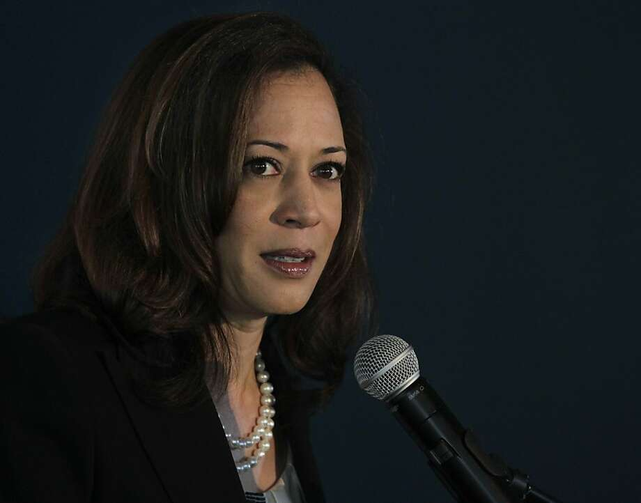 California Attorney General Kamala Harris delivers the keynote speech at the Future of Privacy+Innovation conference in San Francisco, Calif. on Wednesday, April 10, 2013. Photo: Paul Chinn, The Chronicle