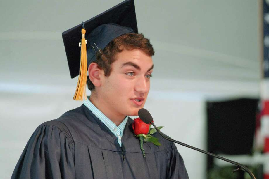 Senior speaker Thomas Rosenfeld at KIng Low Heywood Thomas high school graduation commencement in Stamford, Conn. on Friday May 31, 2013. Photo: Dru Nadler / Stamford Advocate Freelance