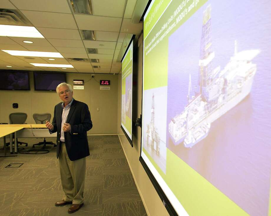 Steve Benson, an area operations manager in BP Gulf of Mexico Business, details how BP's Gulf operations team is preparing for the upcoming hurricane season. Photo: Houston Chronicle