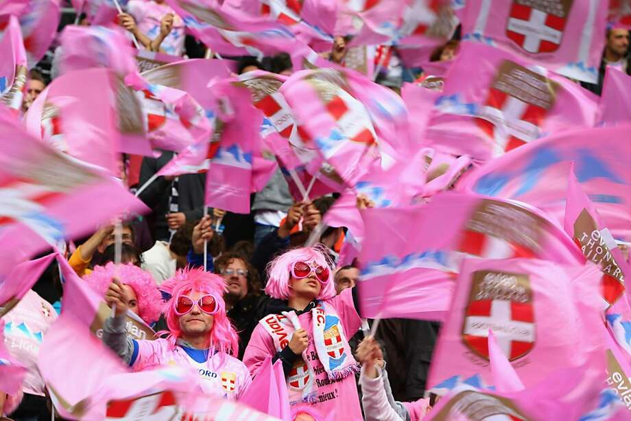 PARIS, FRANCE - MAY 31:  Supporters of Evian Thonon Gaillard  during the French Cup Final match between Evian Thonon Gaillard and FC Girondins de Bordeaux at the Stade de France on May 31, 2013 in Paris, France.  (Photo by Michael Steele/Getty Images) Photo: Michael Steele, Getty Images