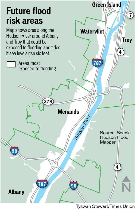 Future flood risk areas.