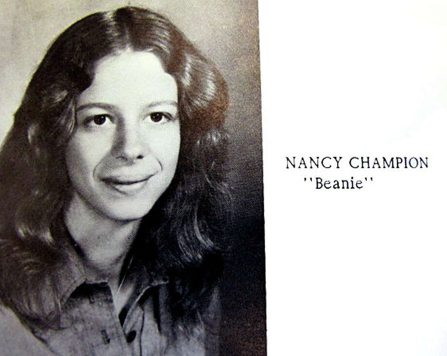 """A bright, articulate Nancy Champion Lanza had her whole life ahead of her when she posed for her 1978  class picture at Sanborn Regional High School in Kingston, New Hampshire. Her nickname in high school was """"Beanie."""" Among her favorite authors was JRR Tolkein, and she loved his make believe world of Hobbits.  In fact she wanted to live in their world.  In  her bequeath as a member of the class of 78, she wrote that she was leaving """"to join the Hobbits in Rivendell."""" Photo: Contributed Photo / Connecticut Post Contributed"""