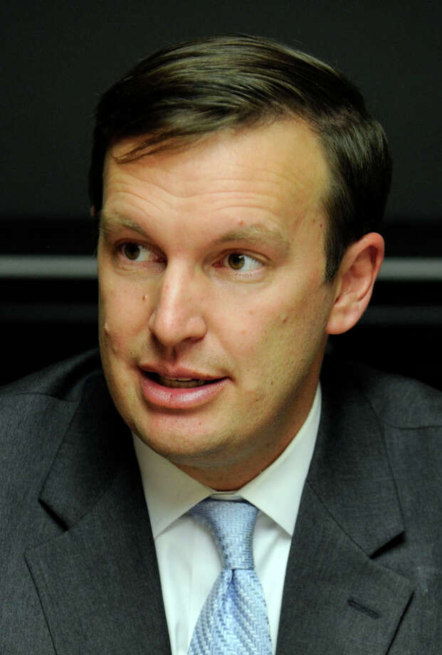U.S. Senator Chris Murphy spent $4.80 a day on food last week, the average food stamp benefit for a single person in Connecticut, in an attempt to bring attention to food stamp benefits. Photo: Carol Kaliff / The News-Times