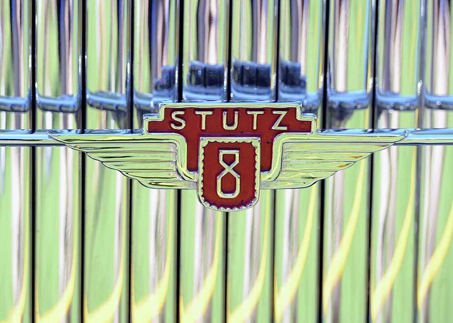 Emblem on the grill of a 1930 Stutz SV16 Monte Carlo Sedan owned by Joseph and Margie Cassini, III, during the Greenwich Concours d'Elegance at Roger Sherman Baldwin Park in Greenwich, Saturday, June 1, 2013. Photo: Bob Luckey / Greenwich Time
