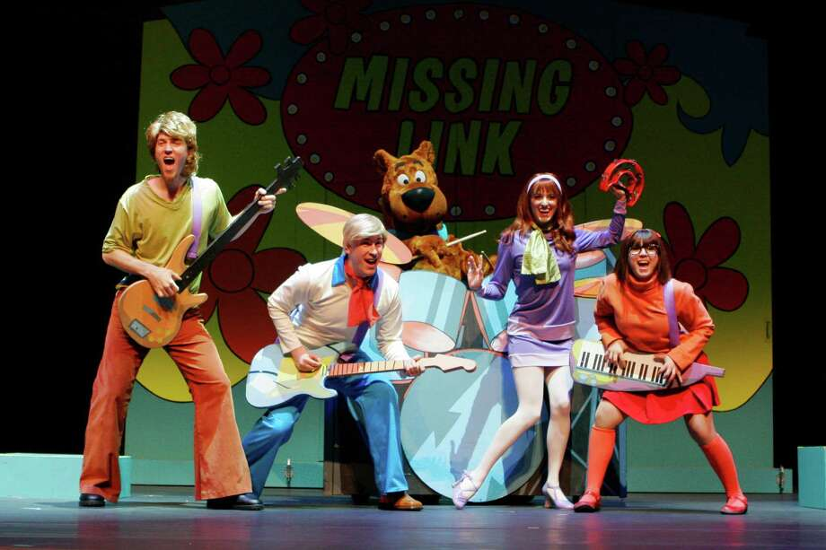"SCOOBY-DOO LIVE! MUSICAL MYSTERIES features big musical numbers including the evergreen Scooby-Doo theme song, ""Scooby-Doo, Where Are You?,"" alongside original groovy tunes including ""Round Every Corner"" and ""We're Mystery Inc."" (courtesy) Photo: Courtesy"