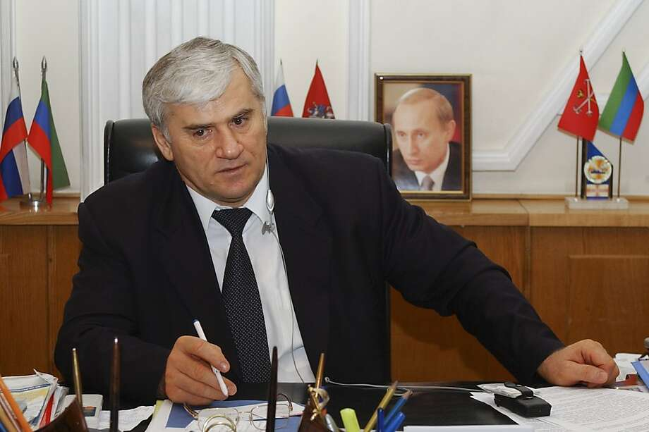 Said Amirov, mayor of Dagestan's regional capital, is held in an investigator's killing. Photo: Sergei Rasulov, Associated Press