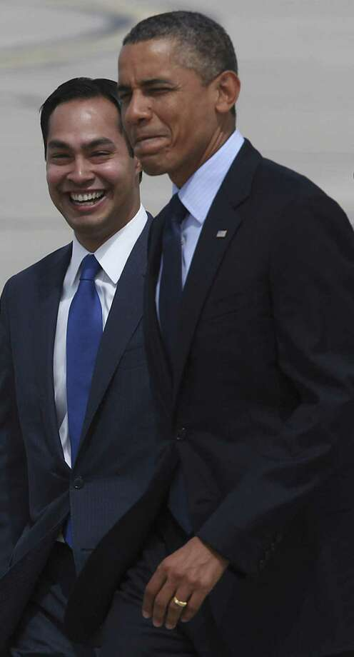 President Barack Obama walks with Mayor Julián Castro. (file photo) Photo: Jerry Lara, San Antonio Express-News