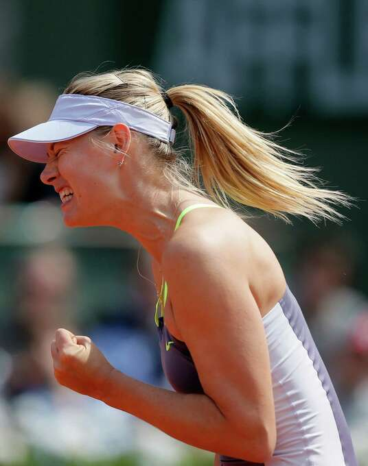 Russia's Maria Sharapova reacts shortly before defeating China's Jie Zheng during their third round match of the French Open tennis tournament at the Roland Garros stadium Saturday, June 1, 2013 in Paris. Sharapova won 6-1, 7-5. (AP Photo/Michel Spingler) Photo: Michel Spingler