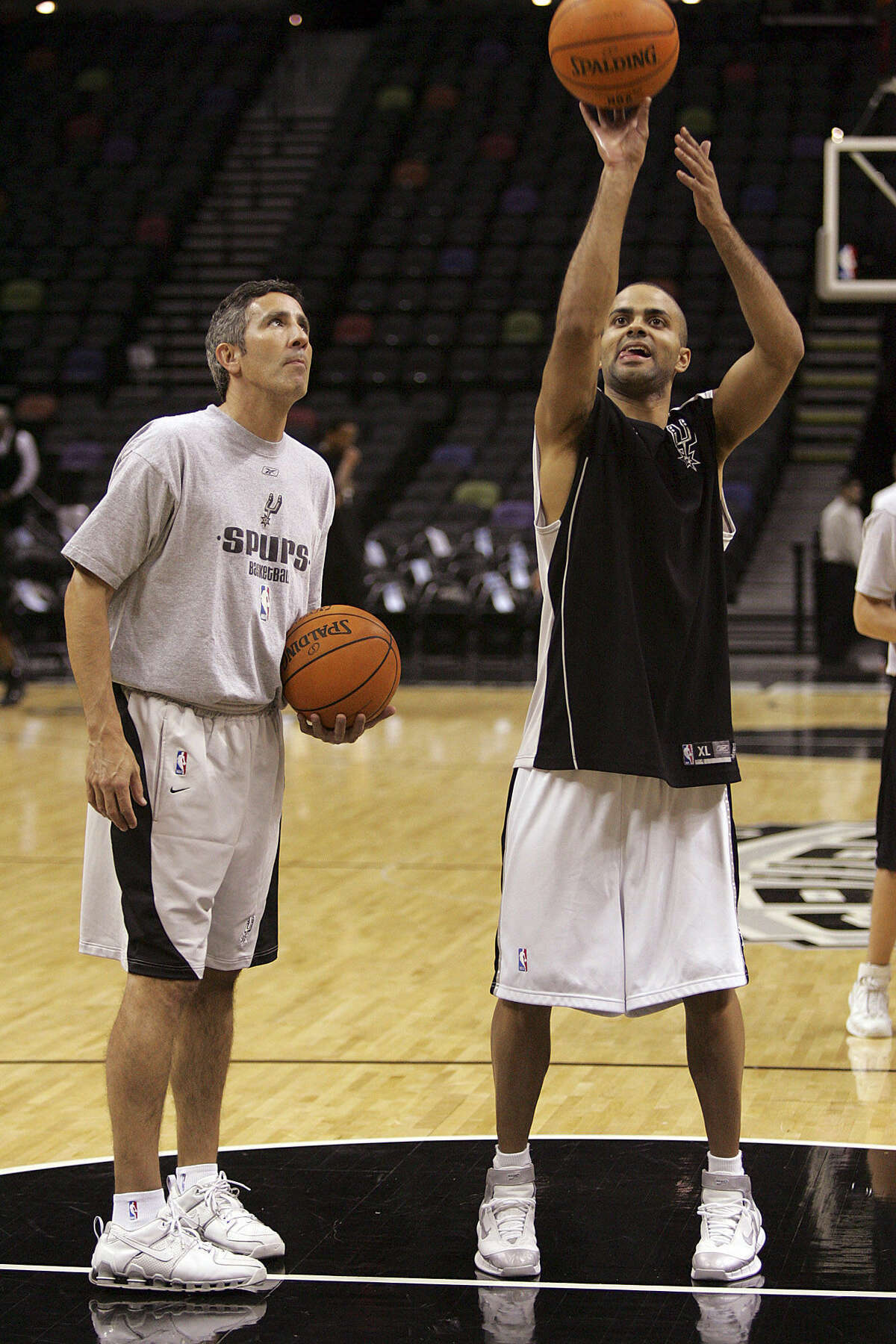 Shooting coach Chip Engelland has worked with Tony Parker since joining the Spurs in 2005, helping the All-Star guard improve his jumper without sacrificing his tear-drop.