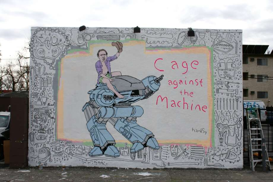 """Cage Against the Machine"" Photo courtesy of Hanksy.com"
