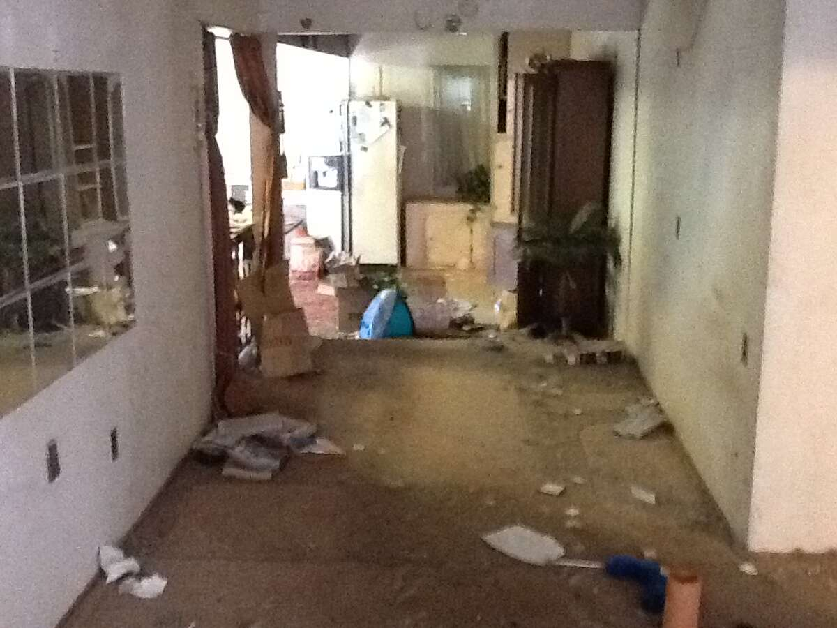 When Presidio Realty Advisors bought this Martinez home in March it was trashed by the former owners, who had kept their destructive dogs inside. The first few photos show the house before; then you can see the remodeling in progress.
